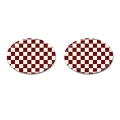 Pattern Background Texture Cufflinks (Oval)