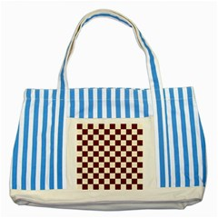Pattern Background Texture Striped Blue Tote Bag