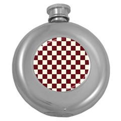 Pattern Background Texture Round Hip Flask (5 oz)