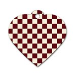 Pattern Background Texture Dog Tag Heart (One Side) Front