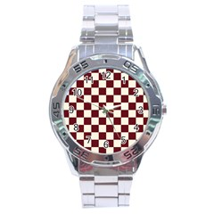 Pattern Background Texture Stainless Steel Analogue Watch