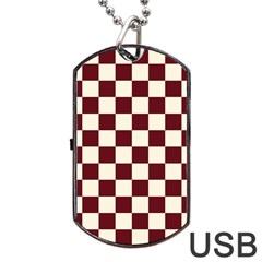 Pattern Background Texture Dog Tag USB Flash (Two Sides)