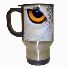Owl Face Travel Mugs (white)