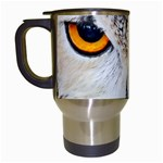Owl Face Travel Mugs (White) Left