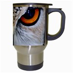 Owl Face Travel Mugs (White) Right