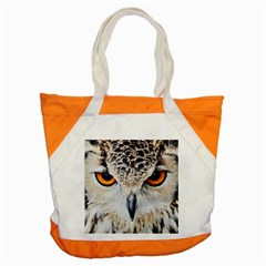 Owl Face Accent Tote Bag