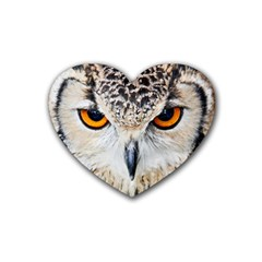 Owl Face Heart Coaster (4 Pack)