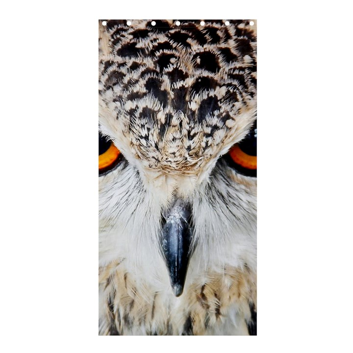 Owl Face Shower Curtain 36  x 72  (Stall)