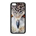 Owl Face Apple iPhone 5C Seamless Case (Black) Front
