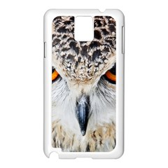 Owl Face Samsung Galaxy Note 3 N9005 Case (white) by Sapixe