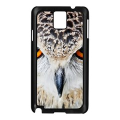 Owl Face Samsung Galaxy Note 3 N9005 Case (black) by Sapixe