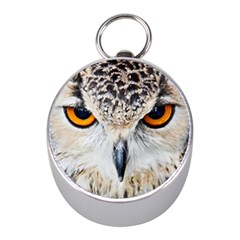Owl Face Mini Silver Compasses by Sapixe