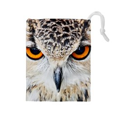 Owl Face Drawstring Pouches (large)