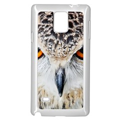 Owl Face Samsung Galaxy Note 4 Case (white) by Sapixe