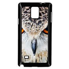Owl Face Samsung Galaxy Note 4 Case (black) by Sapixe
