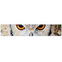 Owl Face Large Flano Scarf  by Sapixe