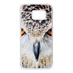 Owl Face Samsung Galaxy S7 White Seamless Case Front