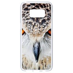 Owl Face Samsung Galaxy S8 White Seamless Case by Sapixe