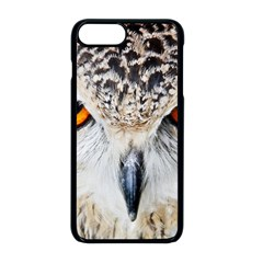 Owl Face Apple Iphone 8 Plus Seamless Case (black) by Sapixe