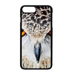 Owl Face Apple iPhone 8 Plus Seamless Case (Black) Front
