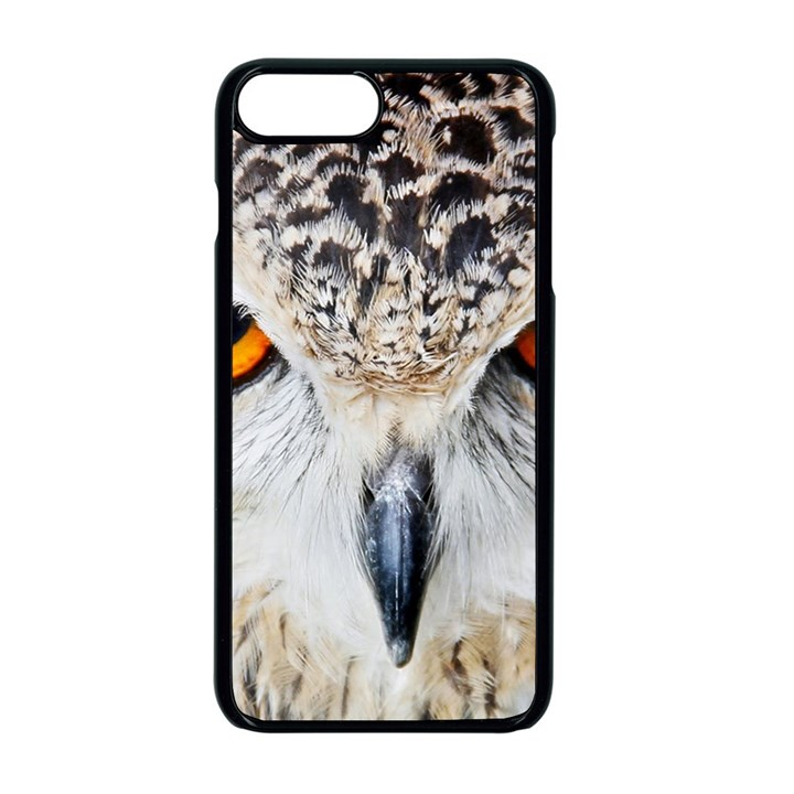 Owl Face Apple iPhone 8 Plus Seamless Case (Black)