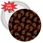 Pattern Abstract Paisley Swirls 3  Buttons (100 pack)  Front