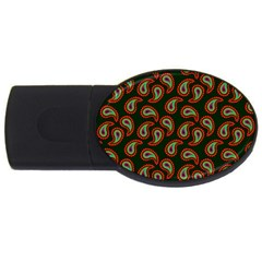 Pattern Abstract Paisley Swirls Usb Flash Drive Oval (4 Gb) by Sapixe