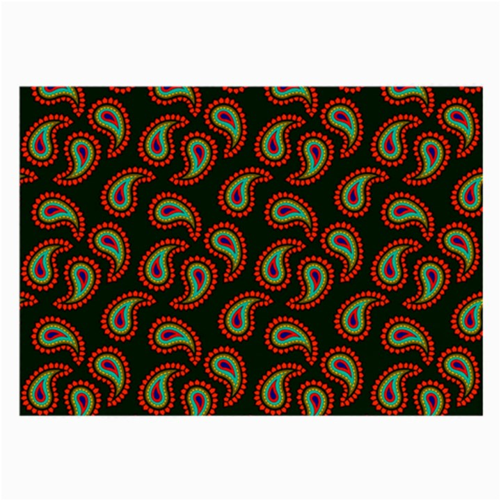 Pattern Abstract Paisley Swirls Large Glasses Cloth