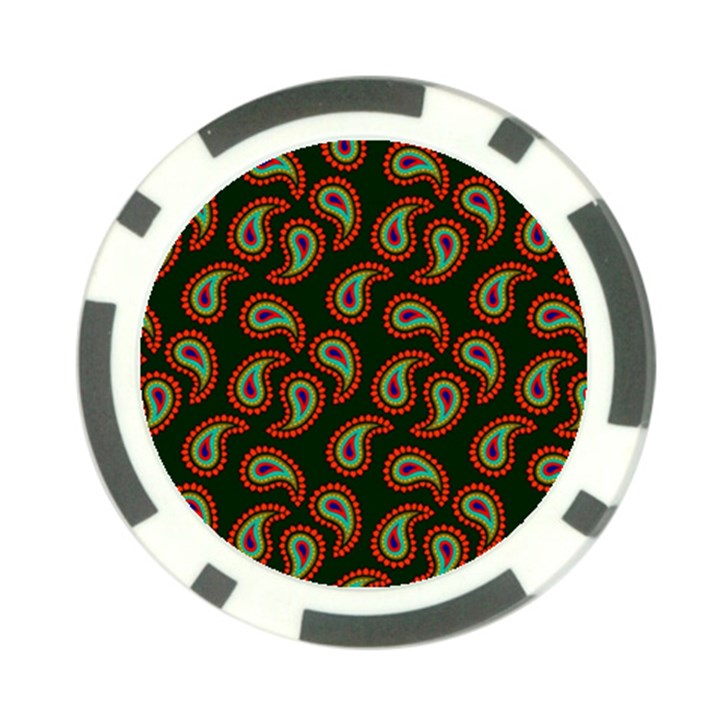 Pattern Abstract Paisley Swirls Poker Chip Card Guard (10 pack)