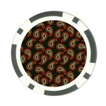 Pattern Abstract Paisley Swirls Poker Chip Card Guard (10 pack) Back