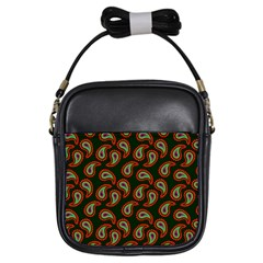 Pattern Abstract Paisley Swirls Girls Sling Bags by Sapixe