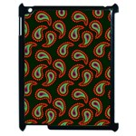 Pattern Abstract Paisley Swirls Apple iPad 2 Case (Black) Front