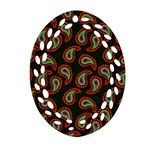 Pattern Abstract Paisley Swirls Ornament (Oval Filigree) Front