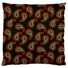 Pattern Abstract Paisley Swirls Large Cushion Case (two Sides) by Sapixe