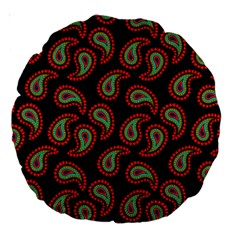 Pattern Abstract Paisley Swirls Large 18  Premium Round Cushions by Sapixe
