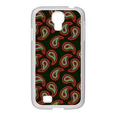Pattern Abstract Paisley Swirls Samsung Galaxy S4 I9500/ I9505 Case (white) by Sapixe