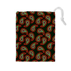 Pattern Abstract Paisley Swirls Drawstring Pouches (large)  by Sapixe