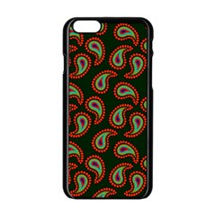 Pattern Abstract Paisley Swirls Apple Iphone 6/6s Black Enamel Case