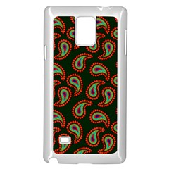 Pattern Abstract Paisley Swirls Samsung Galaxy Note 4 Case (white)