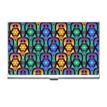 Pattern Background Bright Blue Business Card Holders Front