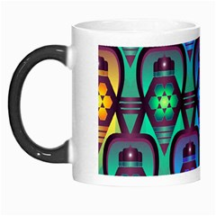 Pattern Background Bright Blue Morph Mugs