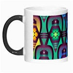 Pattern Background Bright Blue Morph Mugs Left