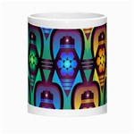 Pattern Background Bright Blue Morph Mugs Center