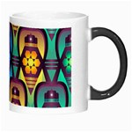 Pattern Background Bright Blue Morph Mugs Right