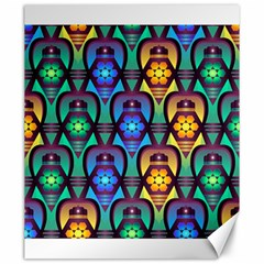 Pattern Background Bright Blue Canvas 20  X 24   by Sapixe