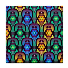 Pattern Background Bright Blue Face Towel by Sapixe