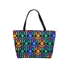 Pattern Background Bright Blue Shoulder Handbags by Sapixe