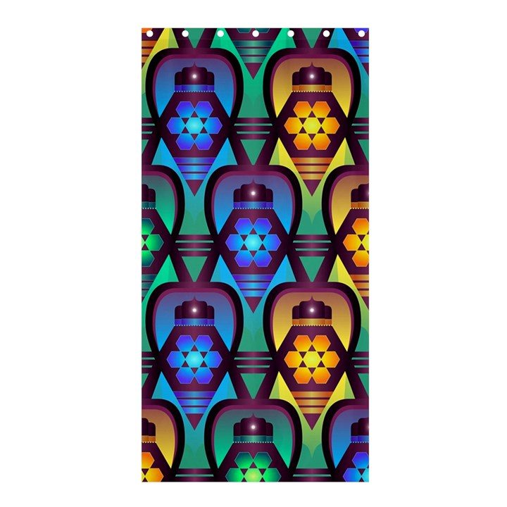 Pattern Background Bright Blue Shower Curtain 36  x 72  (Stall)