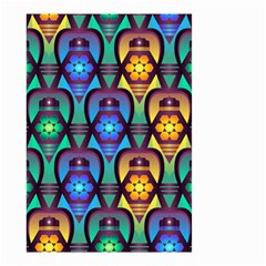 Pattern Background Bright Blue Small Garden Flag (two Sides)