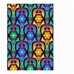 Pattern Background Bright Blue Small Garden Flag (Two Sides) Front